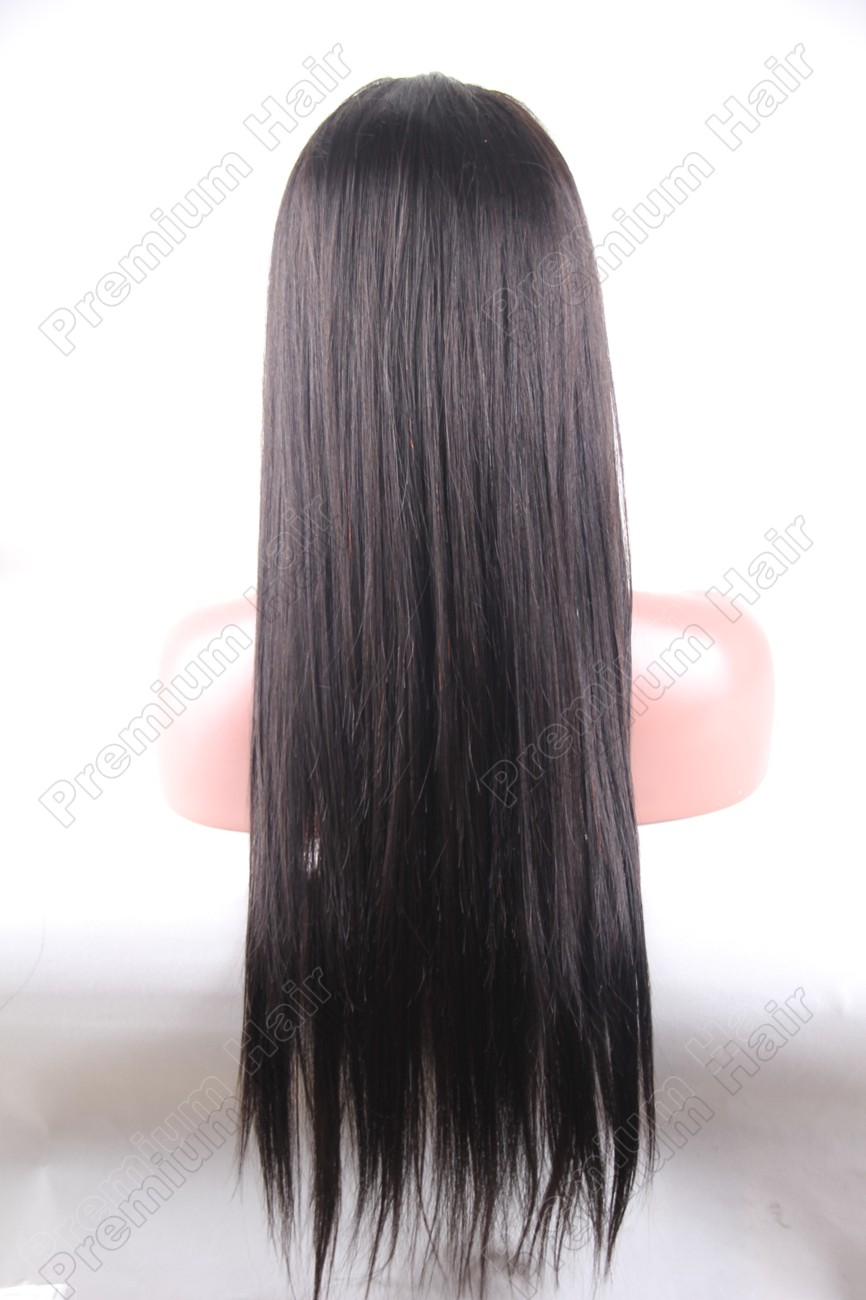 22 Inch Color 1b Natural Straight Chinese Virgin Hair Wig