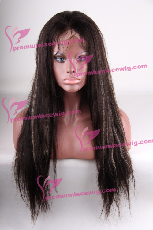 22 inch color 2 with highlite 27 Chinese hair Natural Straight in 150% Density