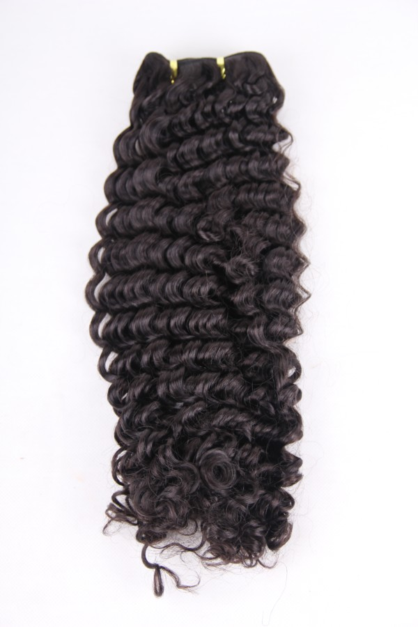 22inch 1b# deep wave hair weft PWC287