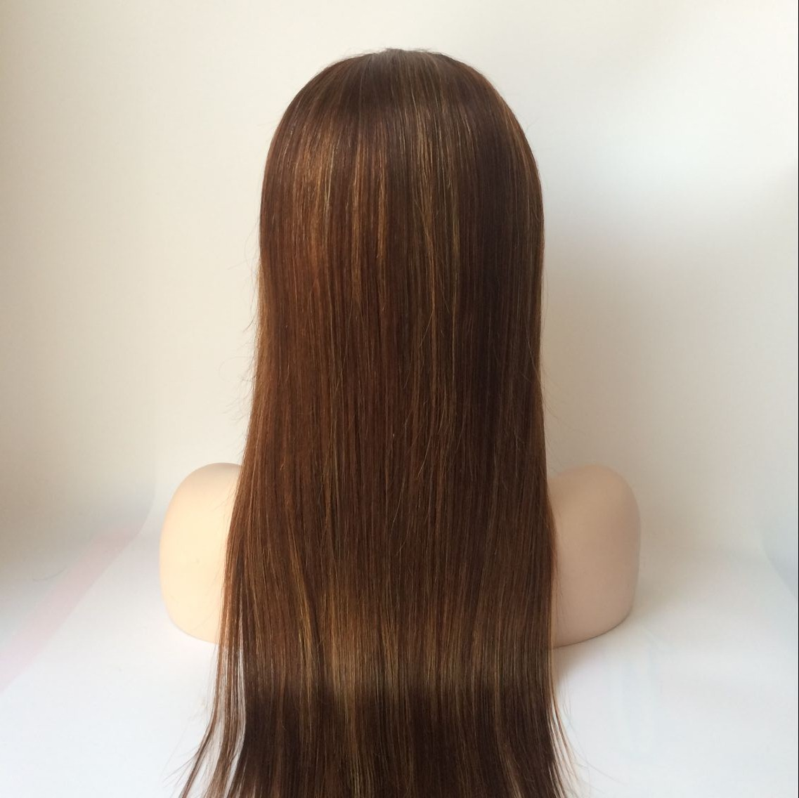 22inch color4 Brazilian hair straight lace front wig
