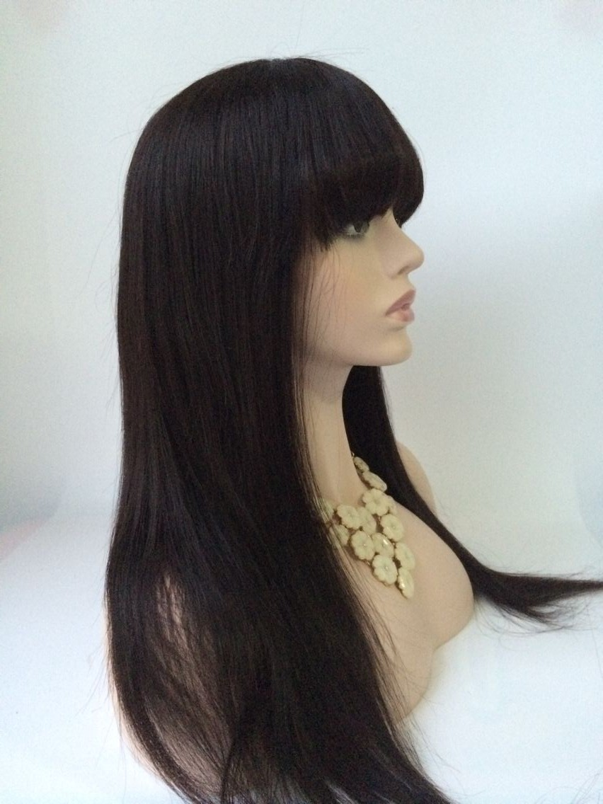 22inch natural color Malaysian hair lace front wig