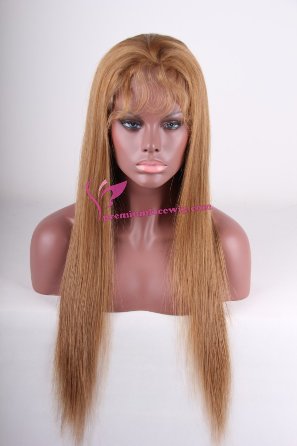 24inch 10# silky straight full lace wig PWC261