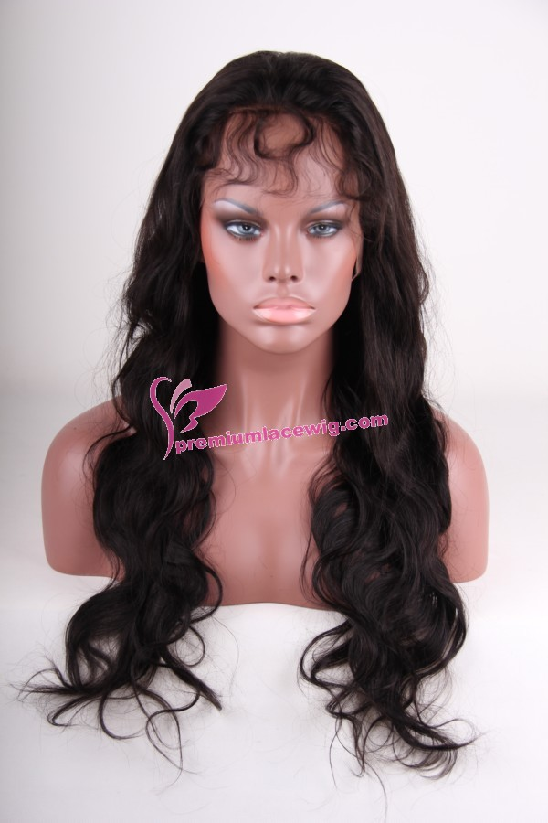 24inch 1b# body wave full lace wig PWS252