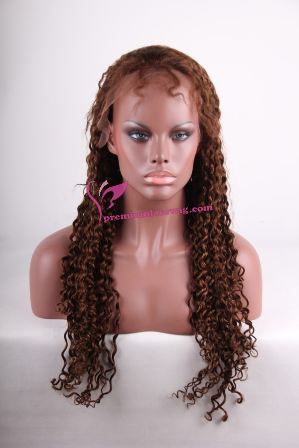 24inch 4/30# water wave full lace wig PWS258