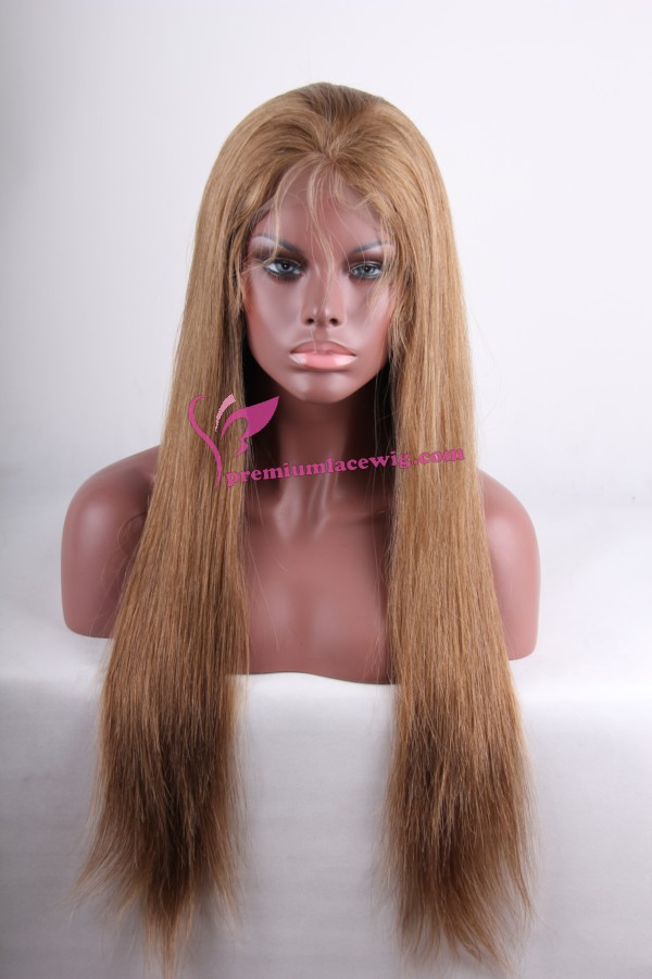 24inch 6/18# straight full lace wig PWC260