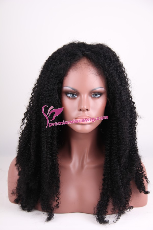 24inch color 1 kinky curl full lace wig PWC266