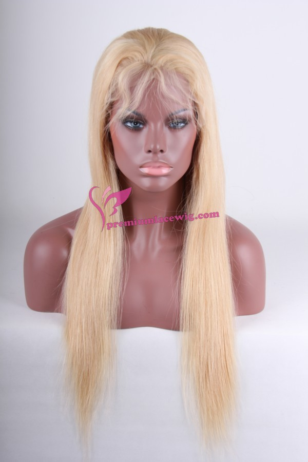 blond hair full lace wig PWC239