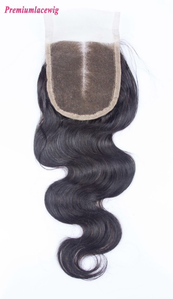 Body Wave Mongolian Lace Closure Middle Part 14inch