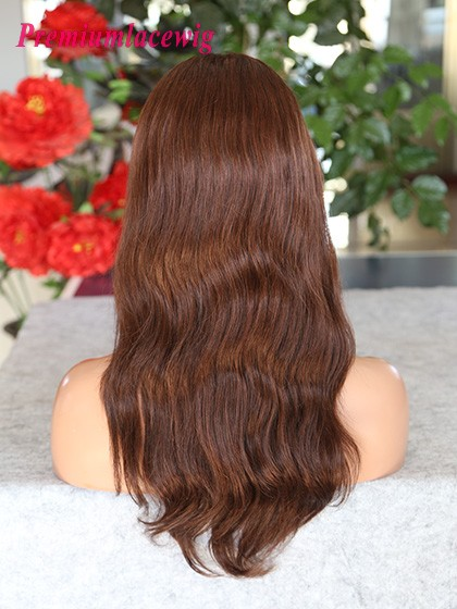 Brazilian Full Lace Wig Color4 Natural Wave 18inch
