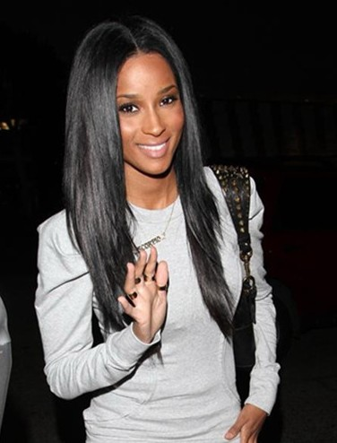celebrity 18 inch Mongolian remy hair straight full lace wig PWA-634