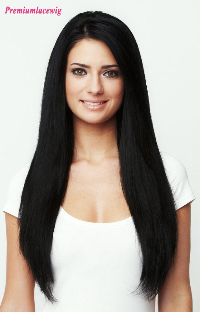 Cheap Straight Full Lace Wig Malaysian Hair 18inch
