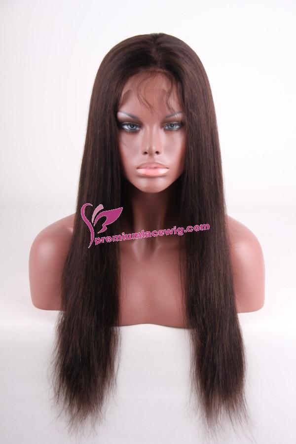 Chinese virgin hair full lace wig Light Yaki PWS216
