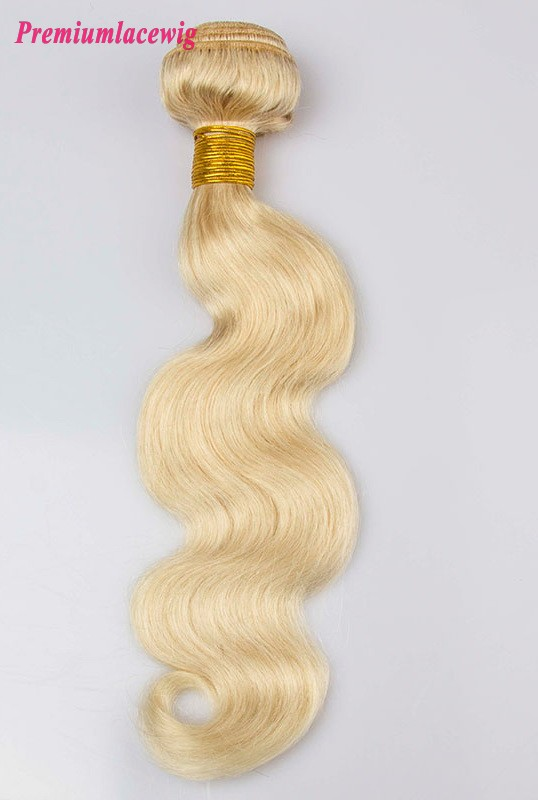 Color 613 Body Wave Peruvian Hair Human Hair Bundles 14 inch