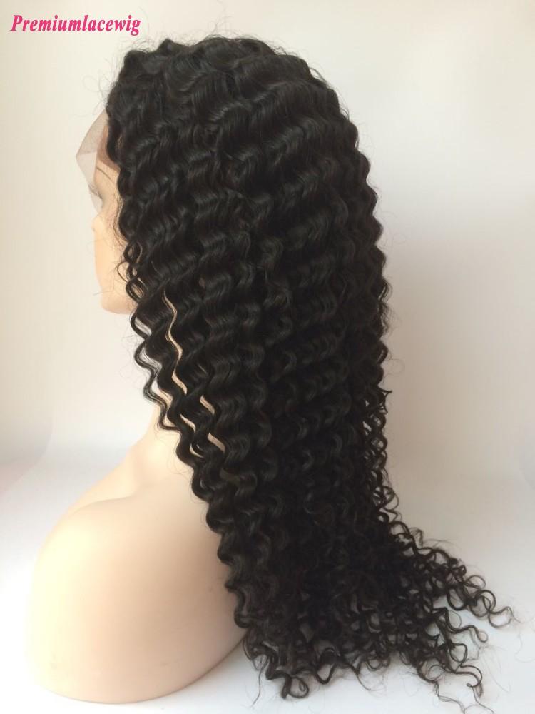 Curly Peruvian Virgin Hair Full Lace Human Hair Wigs