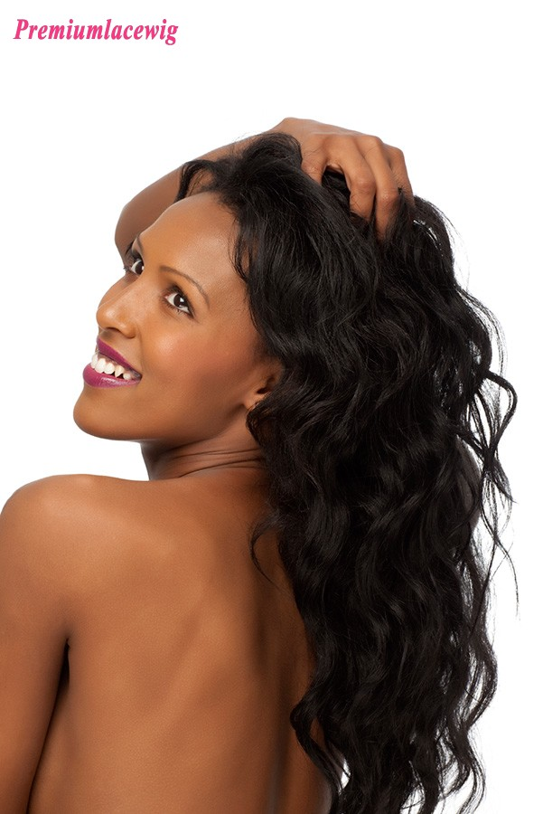 Deep Wave Full Lace Human Hair Wigs Brazilian Hair 22inch