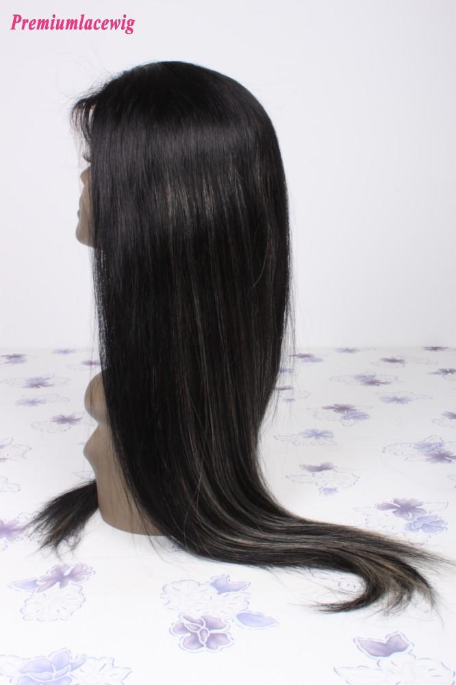 Full Lace Human Hair Wigs Malaysian Virgin Hair Straight