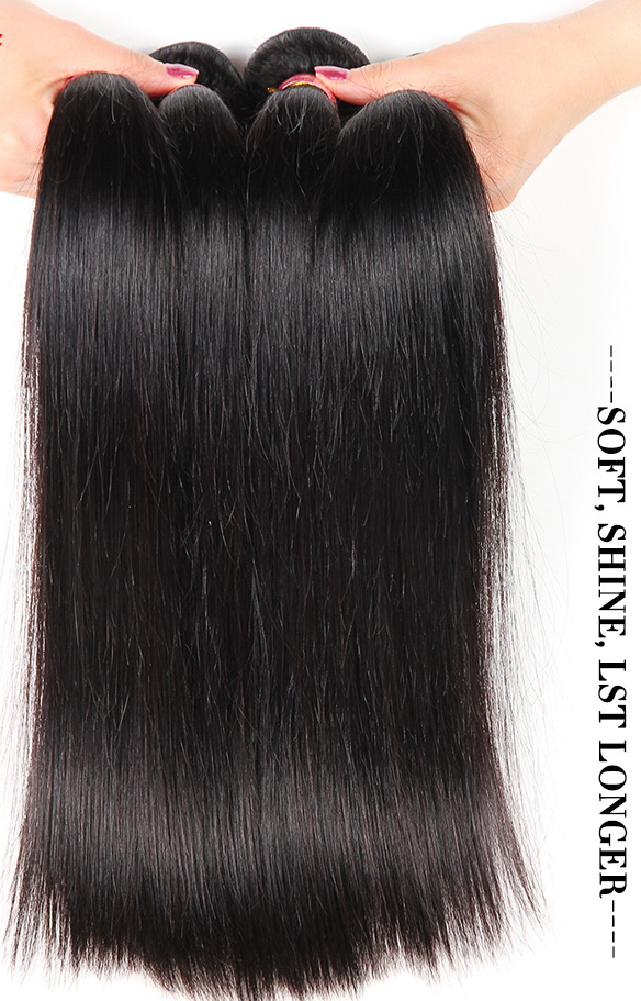 Grade 10a Brazilian Virgin Straight Hair Bundles 1pc