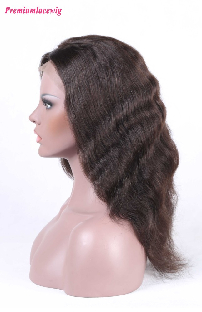 Indian Natural Wave Silk Top Lace Front Wig 16inch