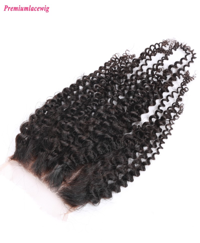 Kinky Curly Lace Closure Indian Hair 16inch