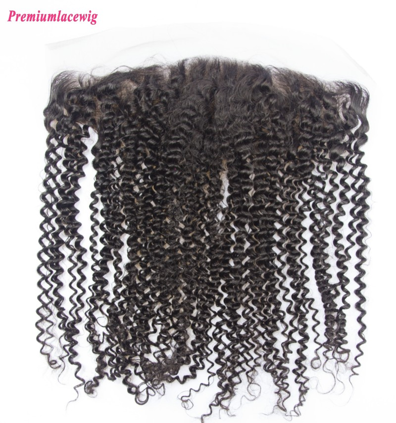 Kinky Curly Malaysian Hair 13x4 Lace Frontal 14inch