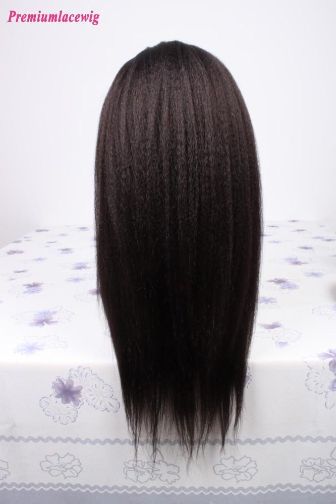 Kinky Straight Full Lace Wig Peruvian Virgin Human Hair