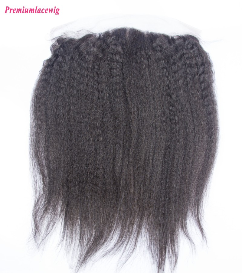 Kinky Straight Lace Frontal Brazilian Hair 13X4 12inch