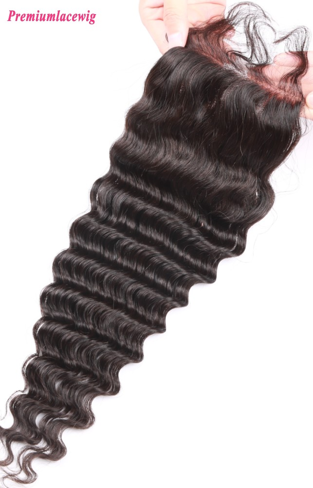 Lace Closure Mongolian Hair Deep Wave 12inch