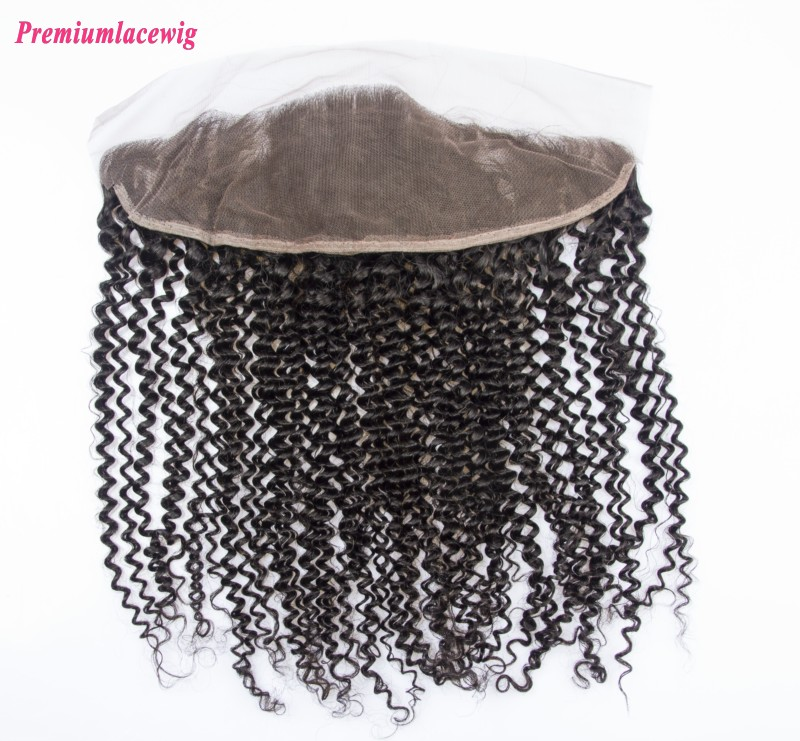 Lace Frontal Kinky Curly Peruvian Hair 13X4 14inch