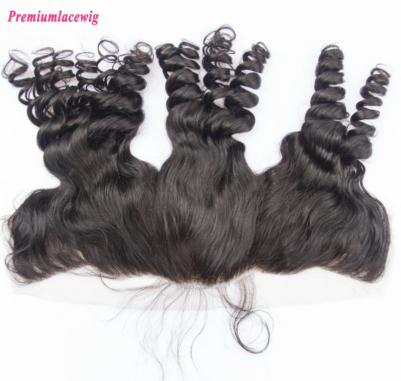 Loose Wave Malaysian Hair 13X4 Lace Frontal 14inch