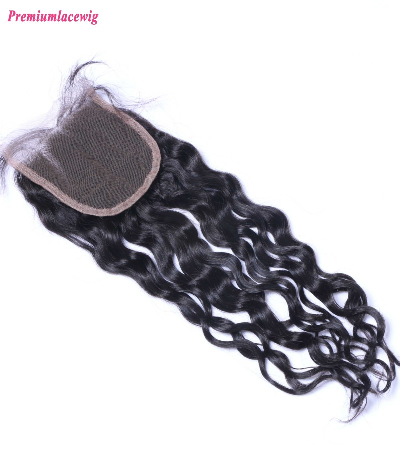 Mongolian Hair Lace Closure Loose Deep Wave 12inch