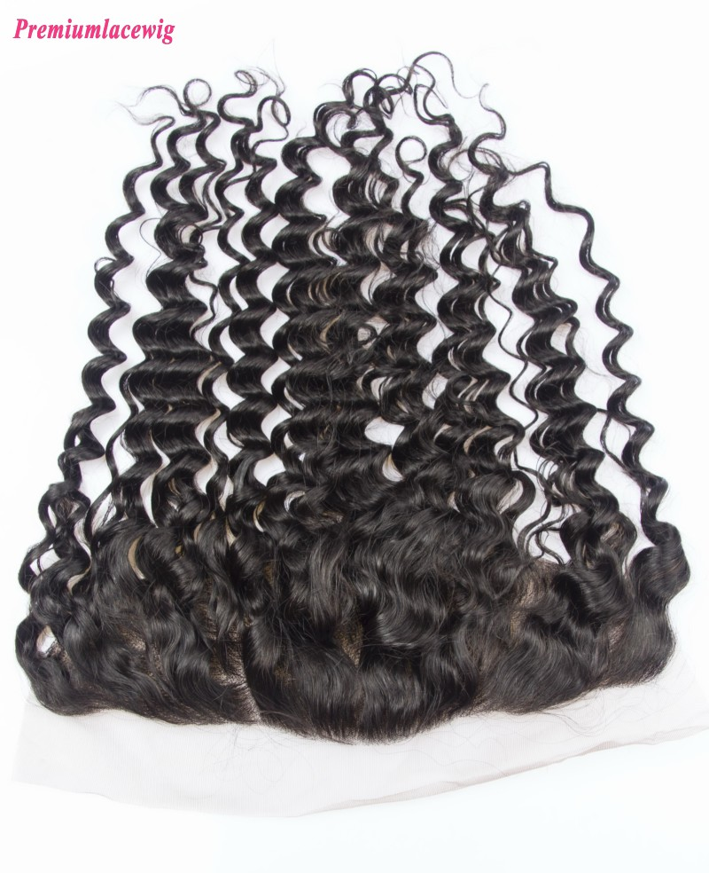 Mongolian Hair Lace Frontal 13x4 Deep Wave 14inch