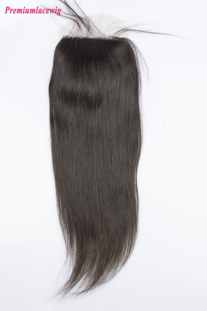 Mongolian Straight Hair Silk Base Closure 16inch