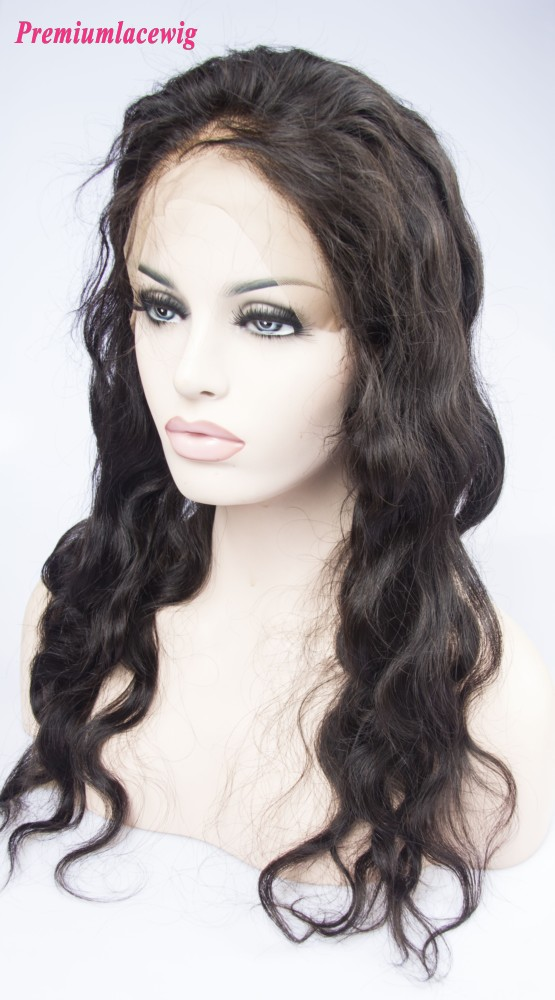 "Peruvian Hair 360 Lace Frontal With Adjustable Strap 22""x4""x2"" Body Wave 16inch"