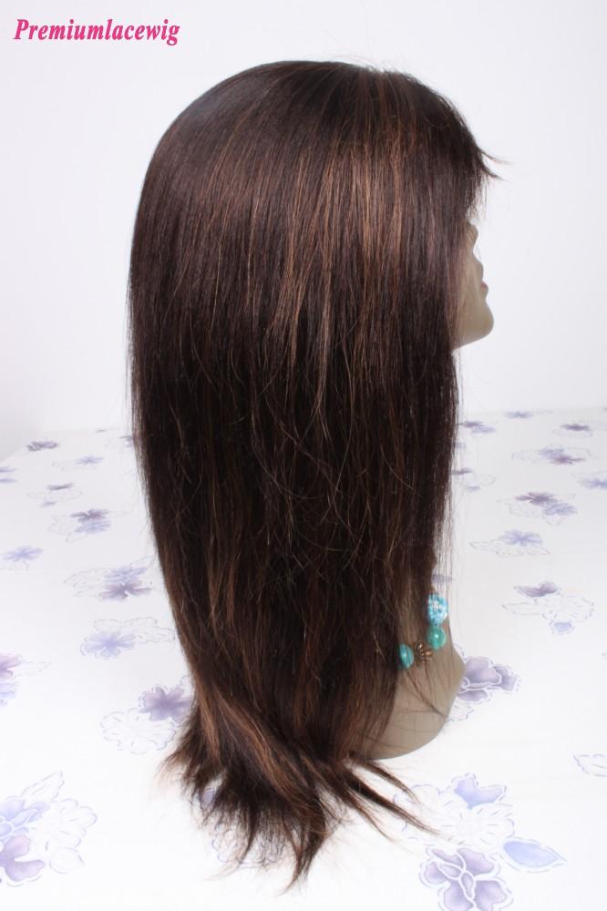 Straight Brazilian Virgin Hair Color2 Highlight30 Full Lace Human