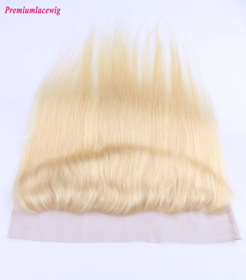 Straight Color 613 Lace Frontal Mongolian Hair 13x4 16inch