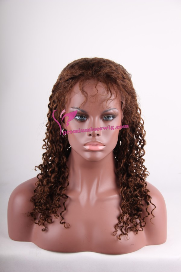 virgin indian curly lace front wigs PWS127