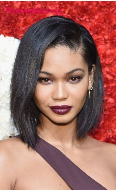 Yaki Straight Short Bob Full Lace Wig Malaysian Hair 10inch