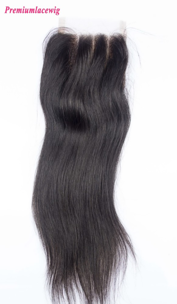 14inch Brazilian Hair Lace Closure Straight Three Part