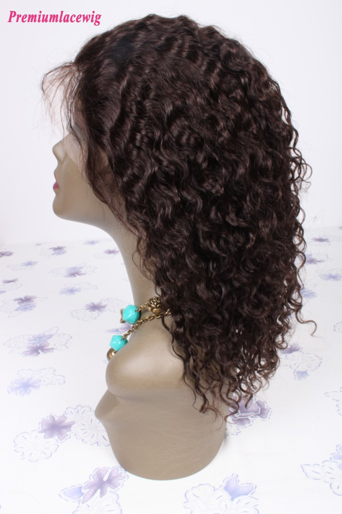 16inch Color2 Peruvian Virgin Hair Full Lace Wig