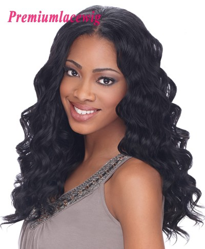 16inch Full Lace Wig Loose Curly Mongolian Hair