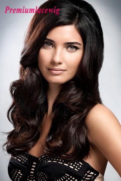 18inch Brazilian Loose Curly Full Lace Human Hair Wigs