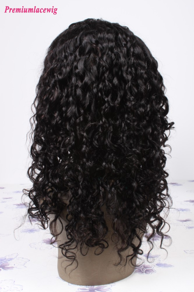 18inch Malaysian Virgin Hair Full Lace Human Hair Wigs Water Wave