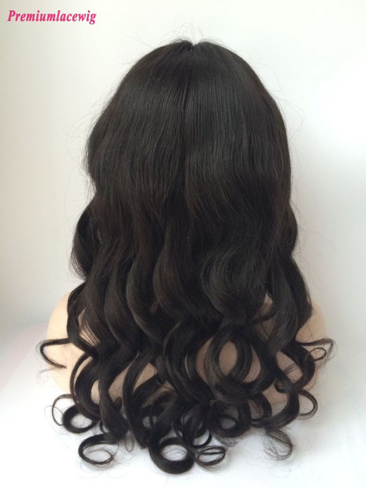 20inch Loose Wave Brazilian Virgin Hair Full Lace Human Hair Wigs