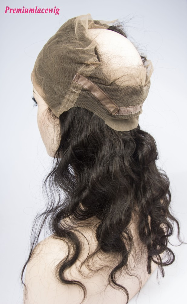 "360 Lace Frontal With Adjustable Strap 22""x4""x2"" Malaysian Body Wave Hair 16inch"
