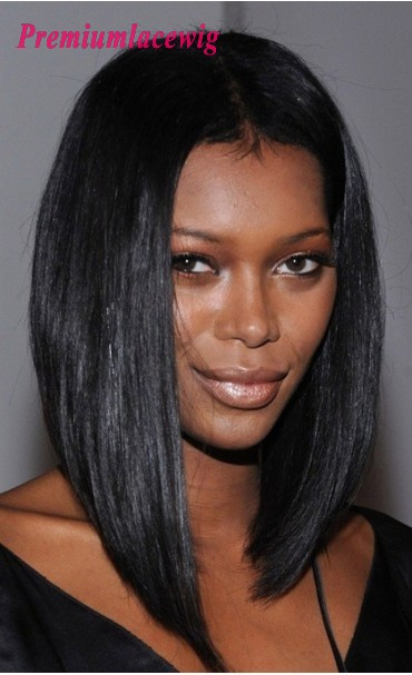 Bob Styled Straight Full Lace Wig Indian Hair 12inch