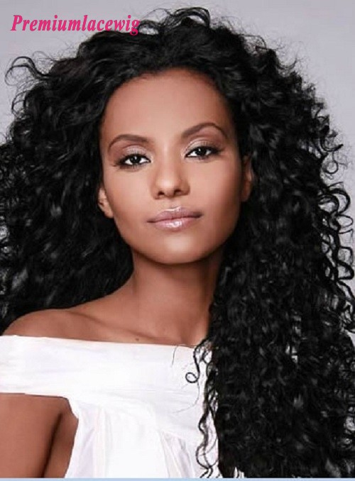 Brazilian Curly Full Lace Human Hair Wigs 20inch