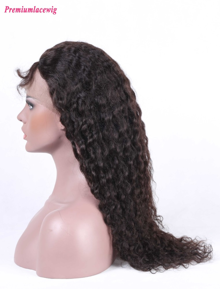 Brazilian Deep Curly Silk Top Lace Front Wig 16inch