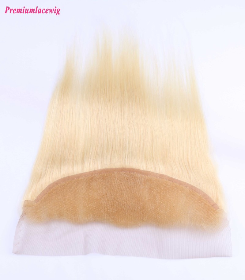 Brazilian Hair Lace Frontal Blonde Straight Color 613 16inch