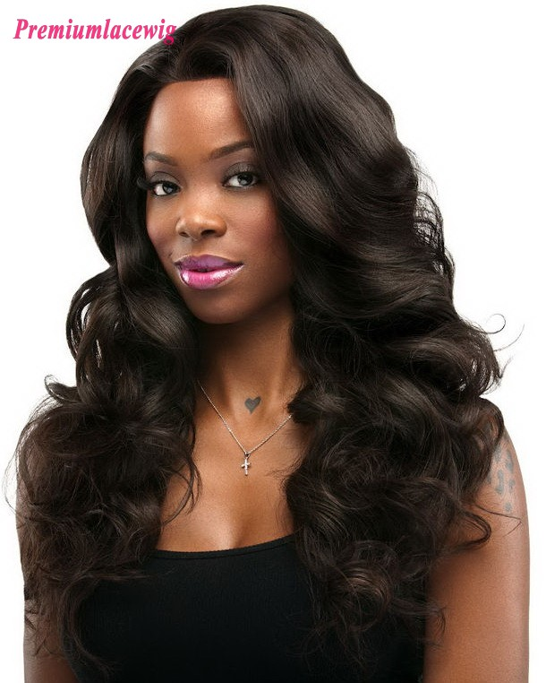 Cheap Full Lace Wig Brazilian Hair Loose Wave 16inch