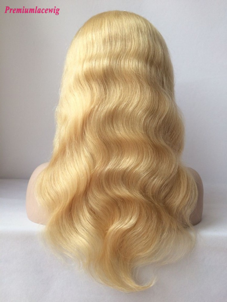 Color 613 Full Lace Wig Brazilian Blonde Body Wave Hair 16inch